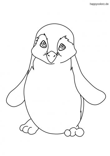 Kleiner Pinguin Ausmalbild