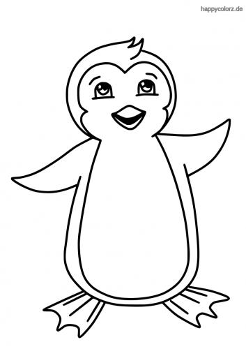 Lachender Pinguin Malvorlage