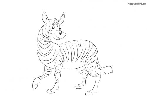 Lachendes Zebra Malvorlage