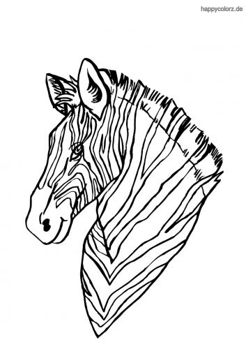 Zebra Kopf Malvorlage