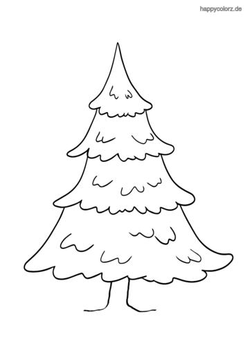Tannenbaum mit Stamm ausmalen