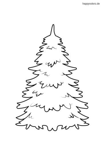Tannenbaum ohne Schmuck Ausmalbild