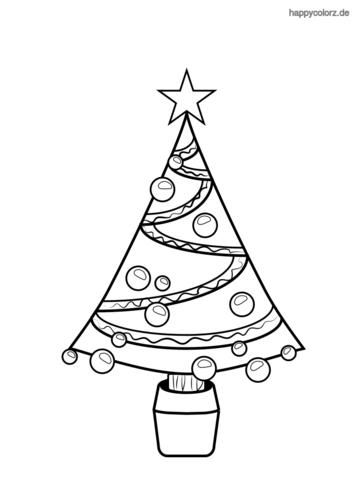 Weihnachtsbaum Ausmalbild