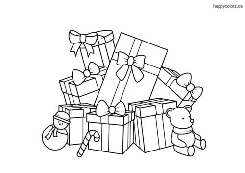 Weihnachtsgeschenke Ausmalbild